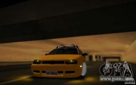 Volkswagen Golf for GTA San Andreas inner view