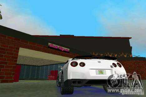 Nissan GT-R Spec V 2010 v1.0 for GTA Vice City right view