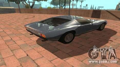 Lamborghini Miura P400 SV 1971 V1.0 for GTA San Andreas back view