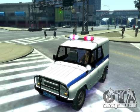 UAZ 31512 Police for GTA 4 inner view