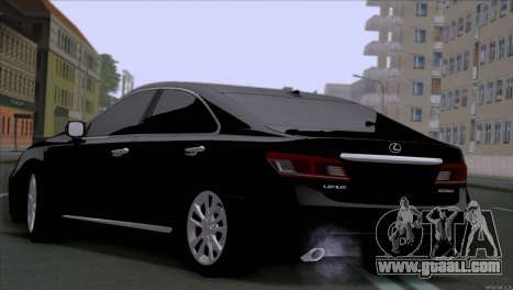 Lexus ES350 for GTA San Andreas back left view