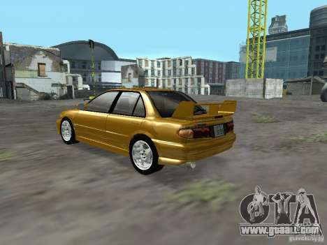 Mitsubishi Lancer Evolution III for GTA San Andreas back left view