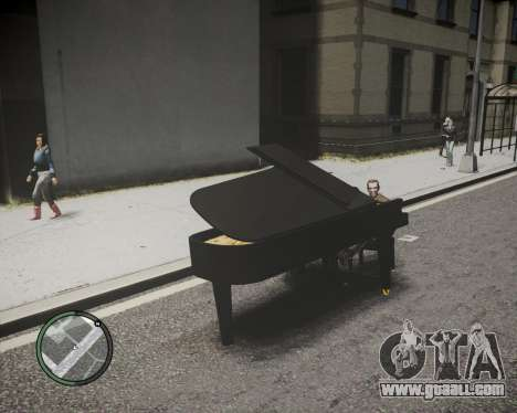 Crazy Piano for GTA 4 back left view