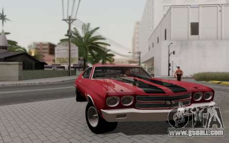 Chevrolet Chevelle SS 454 1970 for GTA San Andreas back left view