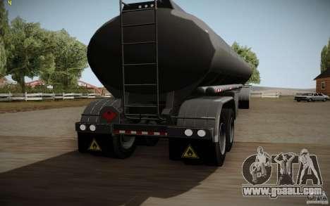 Caravan from Mack Pinnacle Rawhide Edition for GTA San Andreas back left view