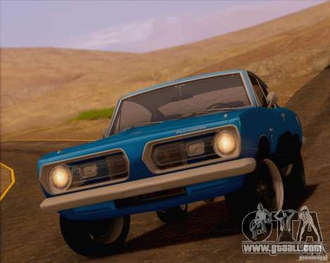 Plymouth Barracuda 1968 for GTA San Andreas right view