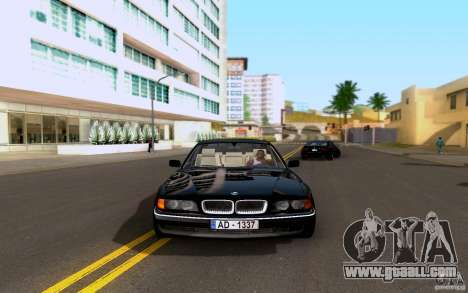 BMW 730i E38 FBI for GTA San Andreas back left view
