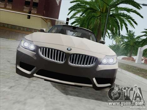 BMW Z4 2011 for GTA San Andreas inner view