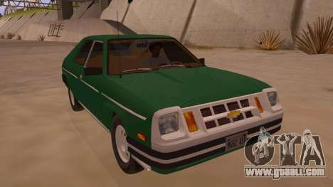 Chevrolet Chevette 1976 for GTA San Andreas back view