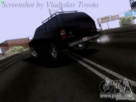 Chevrolet Tahoe 2003 SWAT for GTA San Andreas back left view