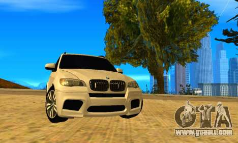 BMW X5M 2013 v2.0 for GTA San Andreas back left view