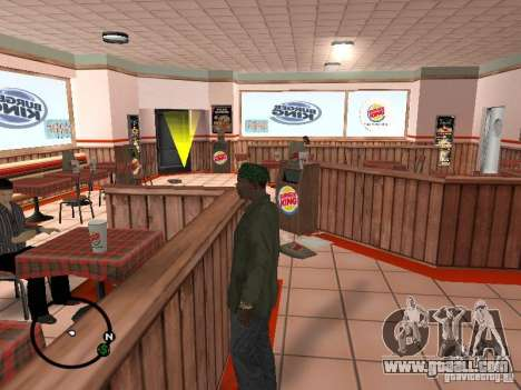 New textures eateries for GTA San Andreas second screenshot