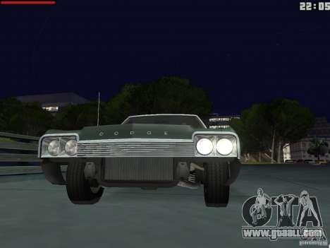 Dodge Monaco 1974 for GTA San Andreas right view