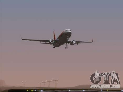 Boeing 737-8F2 Spicejet for GTA San Andreas bottom view