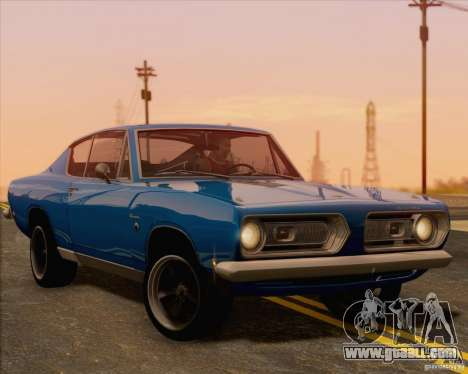 Plymouth Barracuda 1968 for GTA San Andreas back view