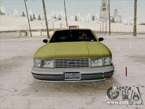 HD Taxi SA from GTA 3 for GTA San Andreas inner view
