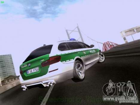 BMW M5 Touring Polizei for GTA San Andreas right view