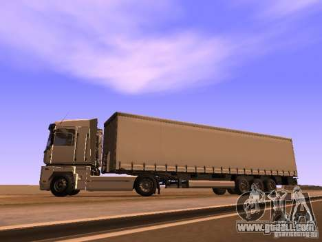 Trailer for Renault Magnum for GTA San Andreas left view