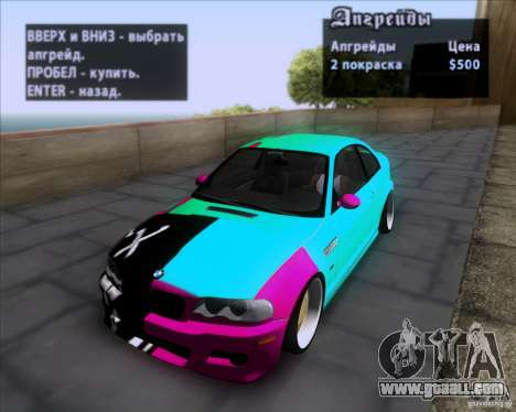 BMW 3-er E46 Dope for GTA San Andreas upper view