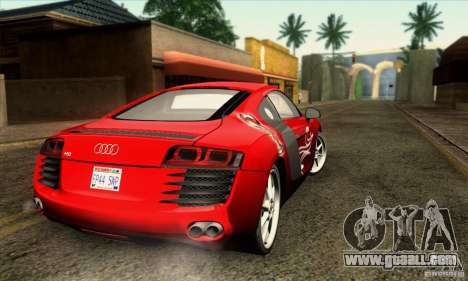 Audi R8 for GTA San Andreas bottom view