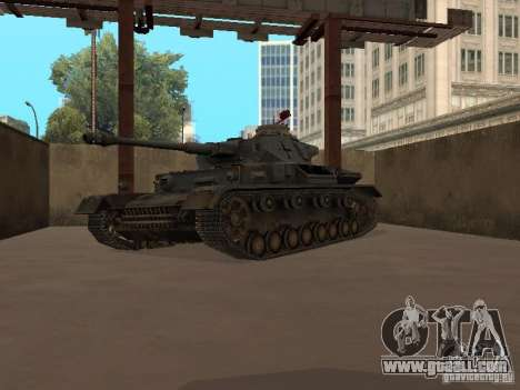Pzkpfw IV for GTA San Andreas left view