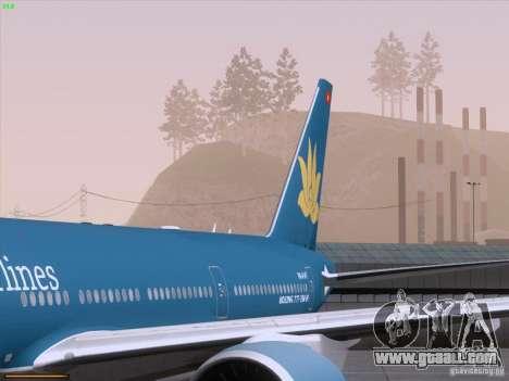 Boeing 777-2Q8ER Vietnam Airlines for GTA San Andreas interior