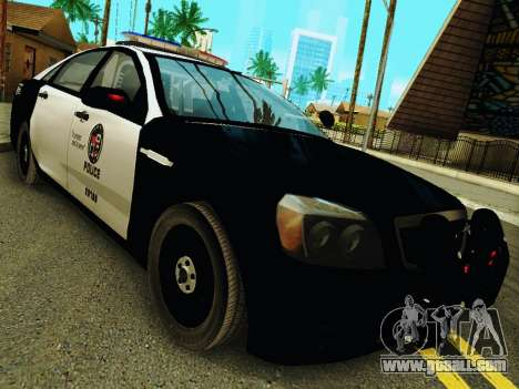 Chevrolet Caprice 2011 Police for GTA San Andreas back view