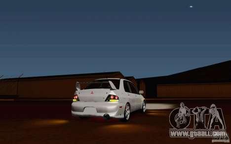 Mitsubishi Lancer Evo VIII GSR for GTA San Andreas back left view