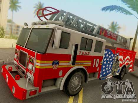 Seagrave FDNY Ladder 10 for GTA San Andreas back left view