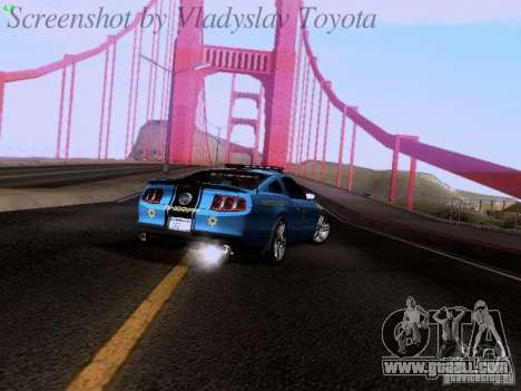 Ford Mustang GT 2011 Police Enforcement for GTA San Andreas inner view