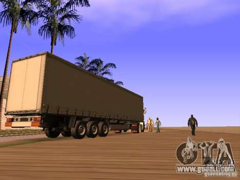 Trailer for Renault Magnum for GTA San Andreas back left view