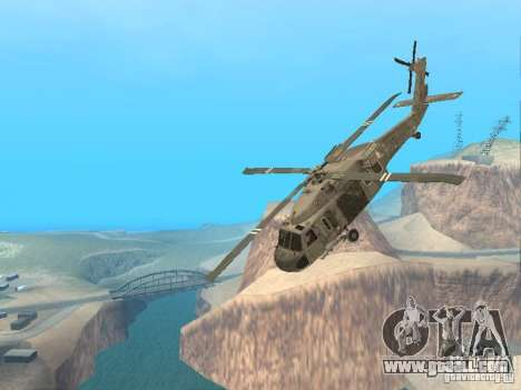 The UH-60 from COD MW3 for GTA San Andreas side view