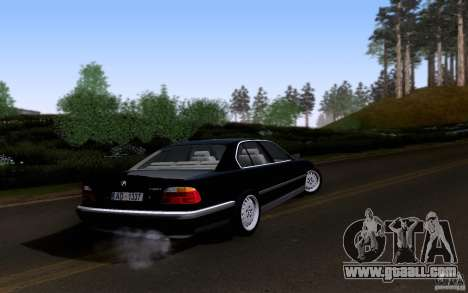 BMW 730i E38 for GTA San Andreas upper view