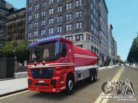 Mercedes-Benz Vanntankbil / Water Tanker for GTA 4 left view