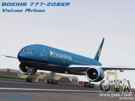 Boeing 777-2Q8ER Vietnam Airlines for GTA San Andreas