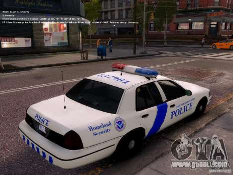 Ford Crown Victoria Homeland Security for GTA 4 inner view