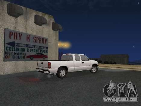 Chevorlet Silverado 2000 for GTA San Andreas right view