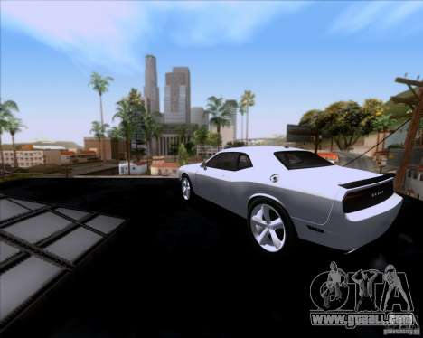 Dodge Challenger SRT8 2009 for GTA San Andreas back left view
