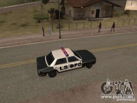 Admiral LSPD for GTA San Andreas back left view