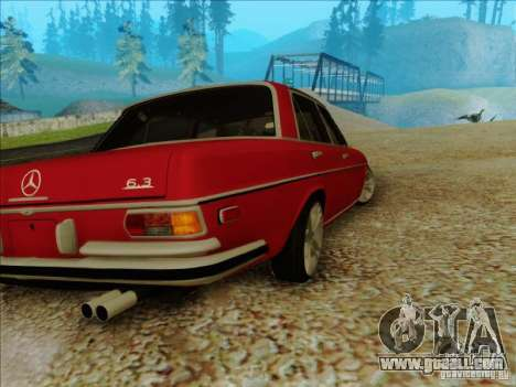 Mercedes-Benz 300 SEL for GTA San Andreas back left view