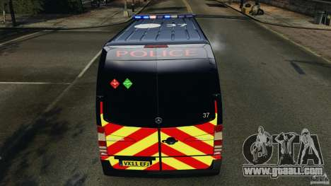 Mercedes-Benz Sprinter Police [ELS] for GTA 4 wheels