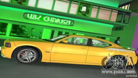 Dodge Charger RT for GTA Vice City back view
