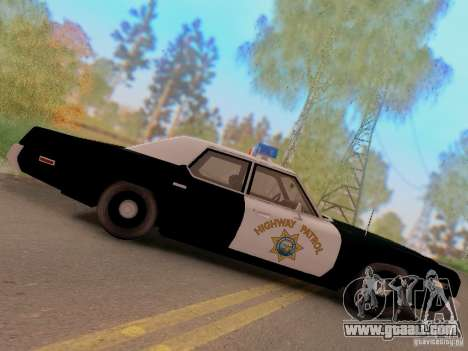 Dodge Monaco 1974 California Highway Patrol for GTA San Andreas right view