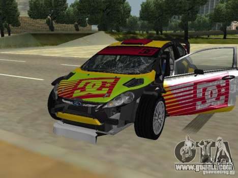 Ford Fiesta H.F.H.V. Ken Block Gymkhana 5 for GTA San Andreas side view