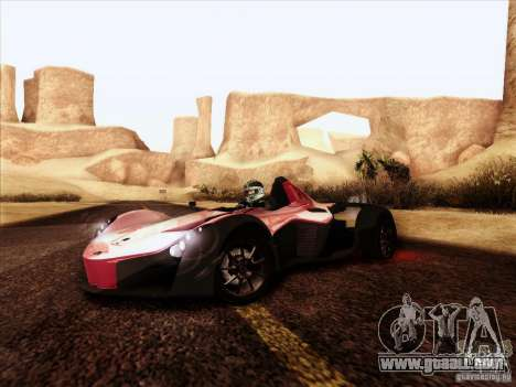 BAC MONO for GTA San Andreas back view
