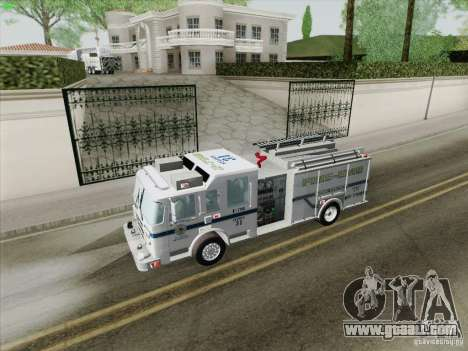 Pierce Pumpers. B.C.F.D. FIRE-EMS for GTA San Andreas engine