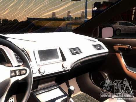 Honda Civic Si 2007 for GTA San Andreas inner view