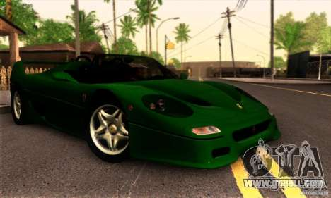 Ferrari F50 Spider for GTA San Andreas back view