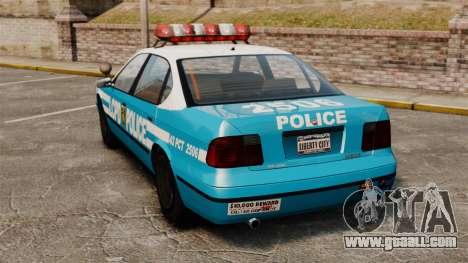 Declasse Merit Police Cruiser ELS for GTA 4 back left view