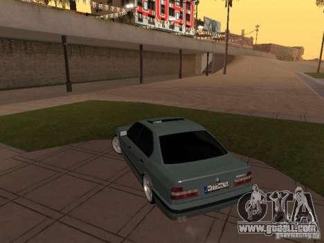 BMW E34 540i V8 for GTA San Andreas back view